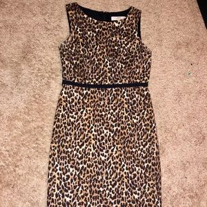 Cheetah Print Loft Dress